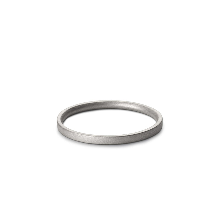 platinum matte wedding ring