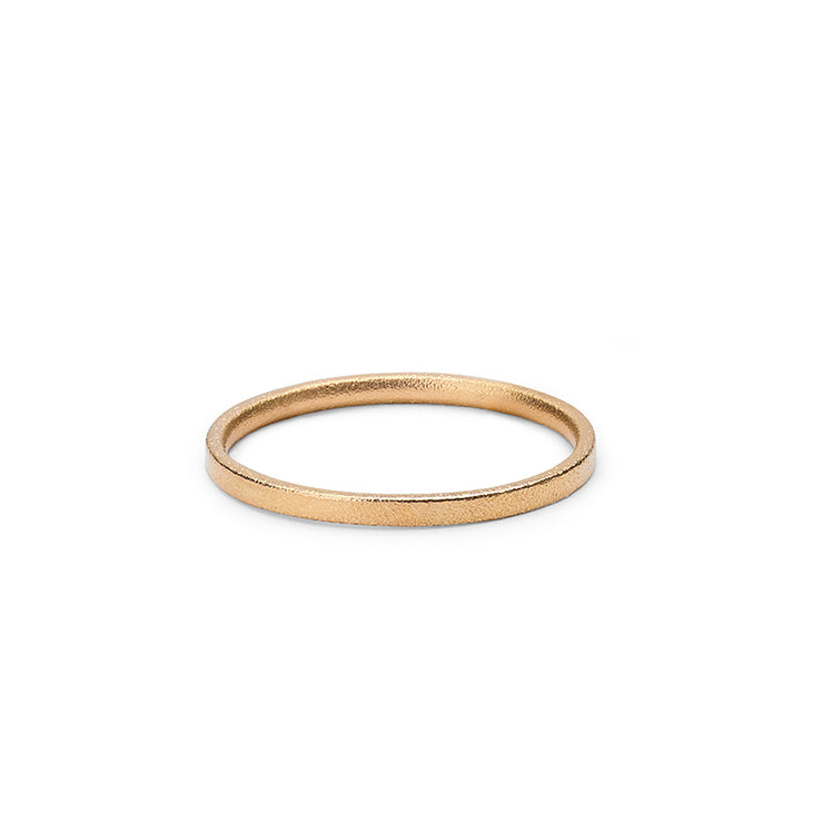 2mm | 18 carat gold blasted wedding ring | wedding band