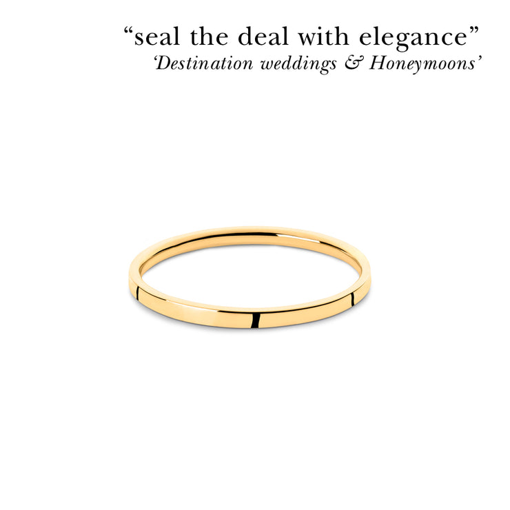 2mm | 18 carat gold wedding ring | wedding band