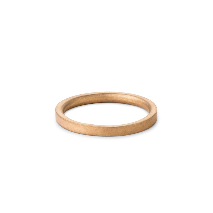 3mm matte gold wedding ring | wedding band