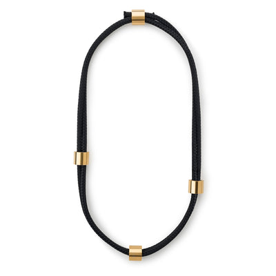 arden black and gold necklace