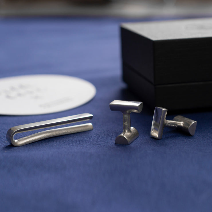 bancroft cufflinks and tie bar gift set | gift ideas for her