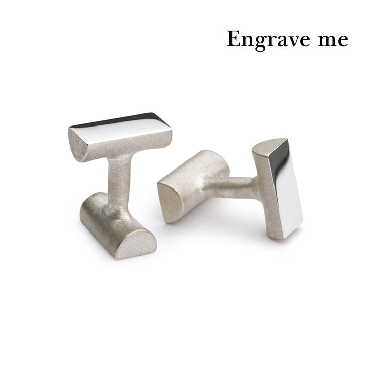 bancroft silver cufflinks | engrave me