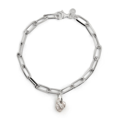bardo silver bracelet | single large charm | water casting