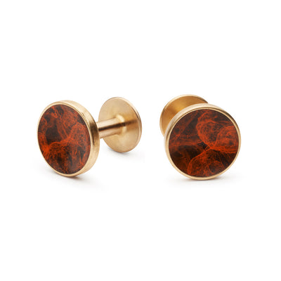 bayley esquire orange cufflinks