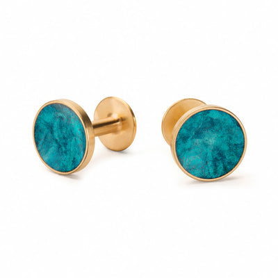 bayley teal cufflinks