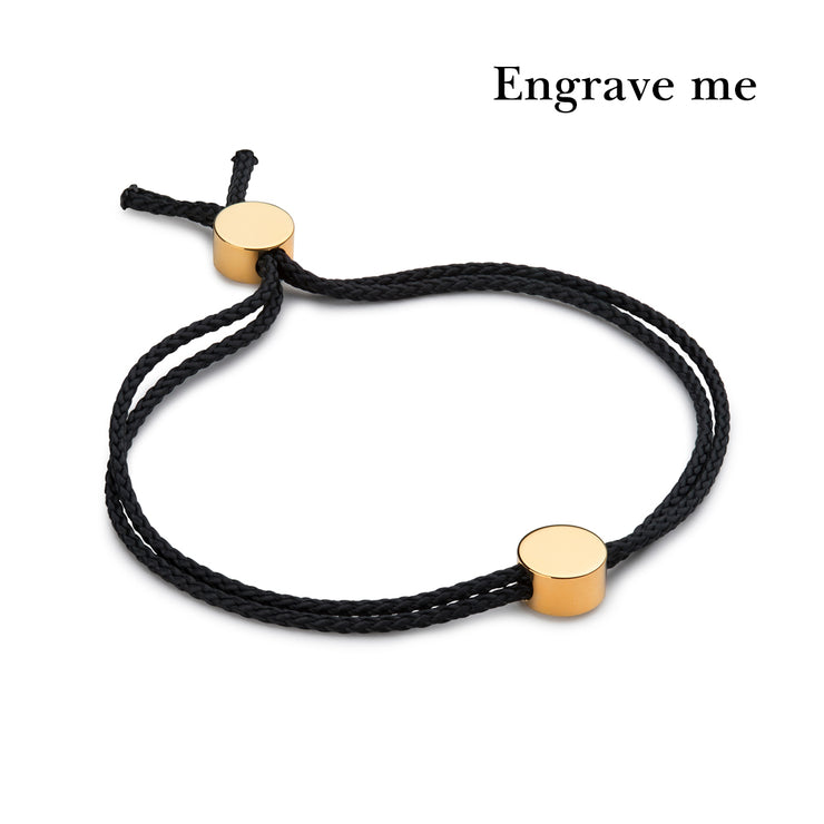 dot black and gold bracelet | engrave me