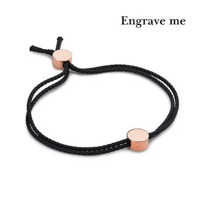 dot black and rose gold bracelet | engrave me