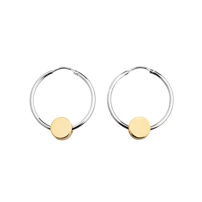 dot gold and silver hoop earrings | Alice Made This