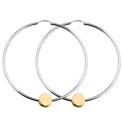 dot gold and silver large hoop earrings | Alice Made This