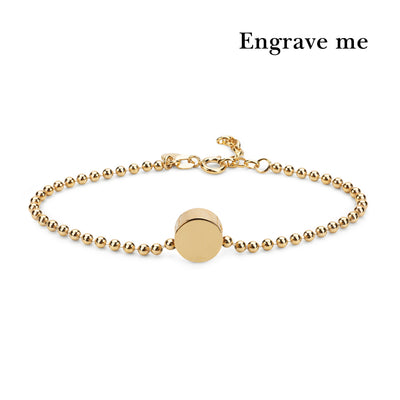 dot gold ball bracelet | engrave me