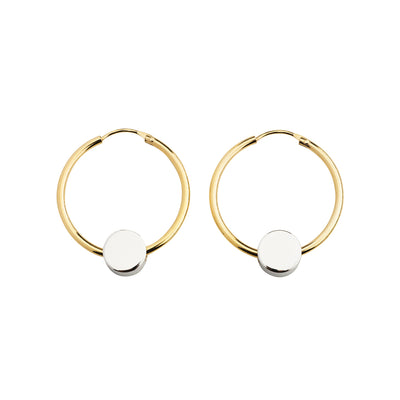 dot silver and gold hoop earrings | Alice Made This
