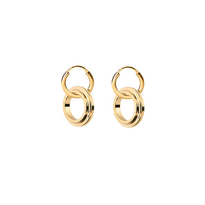eden gold hoop earrings | Alice Made This
