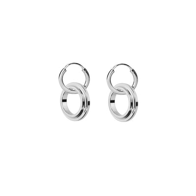eden silver hoop earrings | Alice Made This