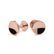 elliot rose gold cufflinks