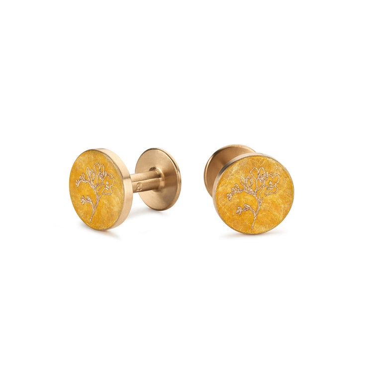 freesia patina cufflinks | Alice Made This X jess bird