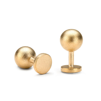 grafton blasted gold cufflinks | 18 carat gold ball cufflinks