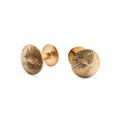 james brass spiral cut cufflinks