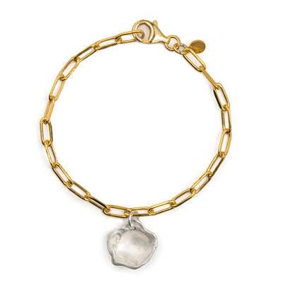 maya gold and silver charm bracelet | water casting