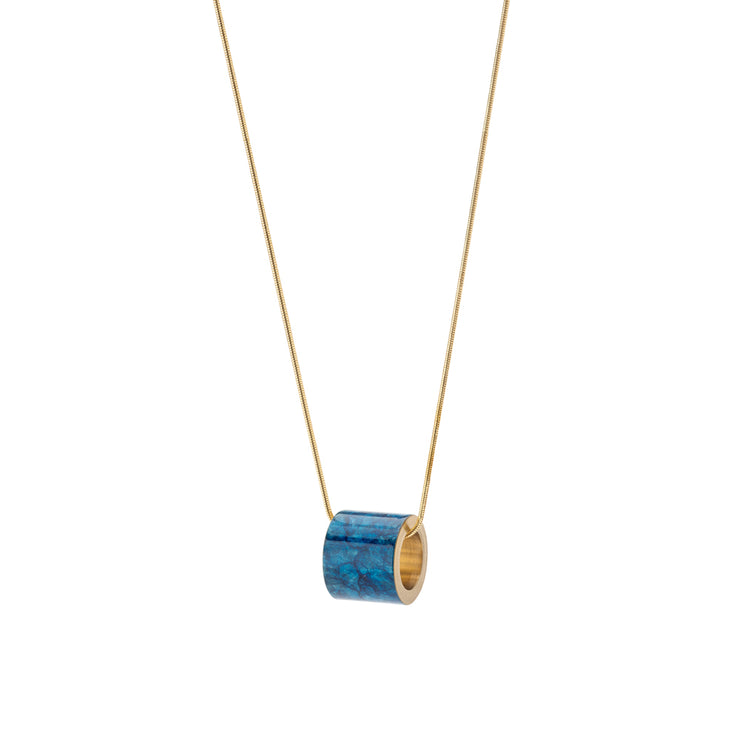 nola prussian blue patina necklace