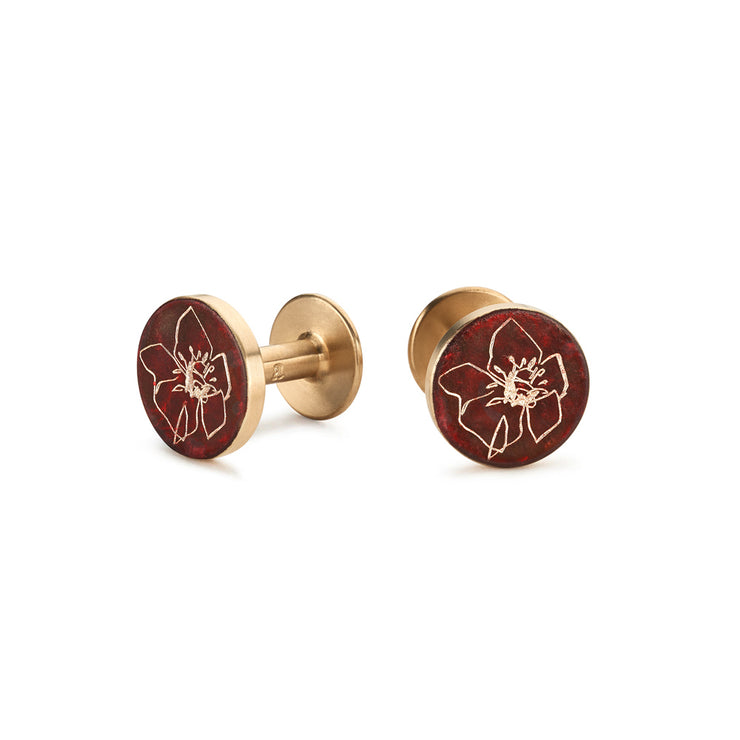 poppy patina cufflinks | Alice Made This X jess bird