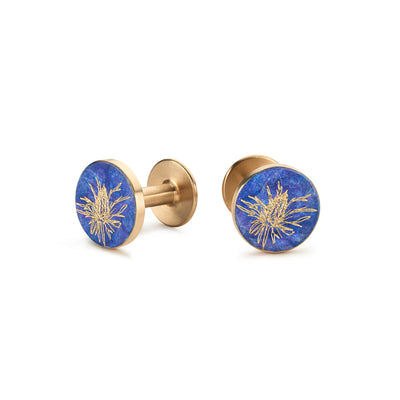 thistle patina cufflinks | Alice Made This X jess bird