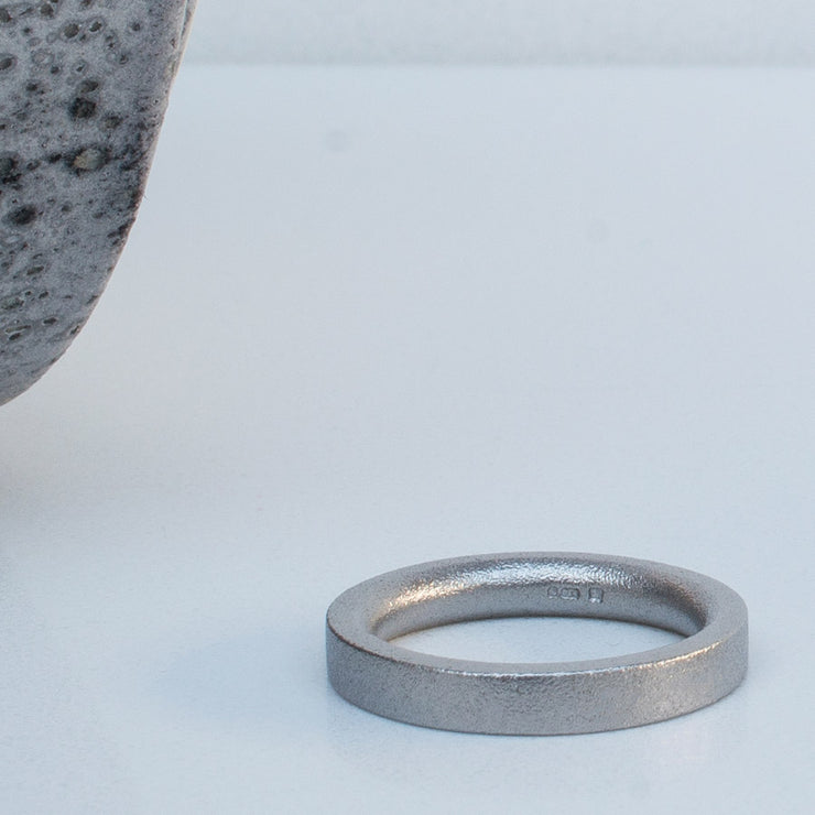 Alice Made This | 4mm blasted platinum wedding ring
