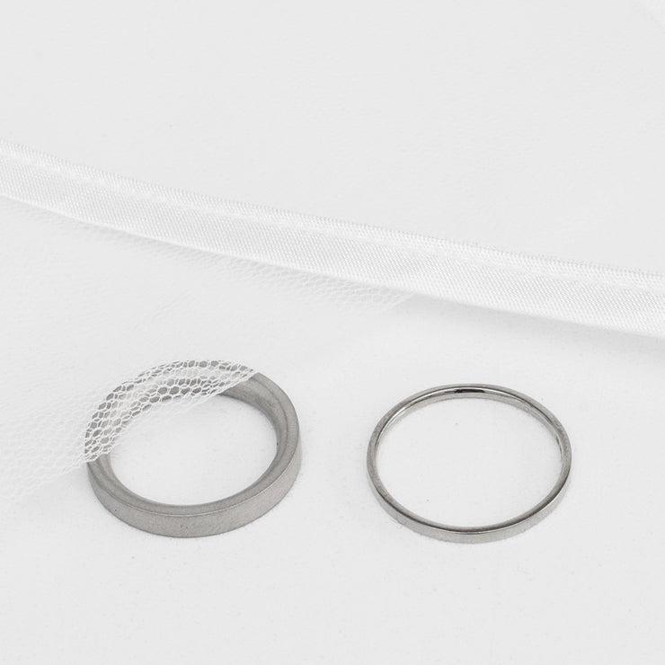 Alice Made This | 4mm Platinum wedding ring