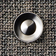 alvar silver cufflink | graphic close up | b