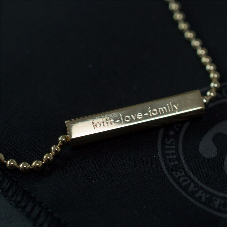 charlie gold necklace | engraving