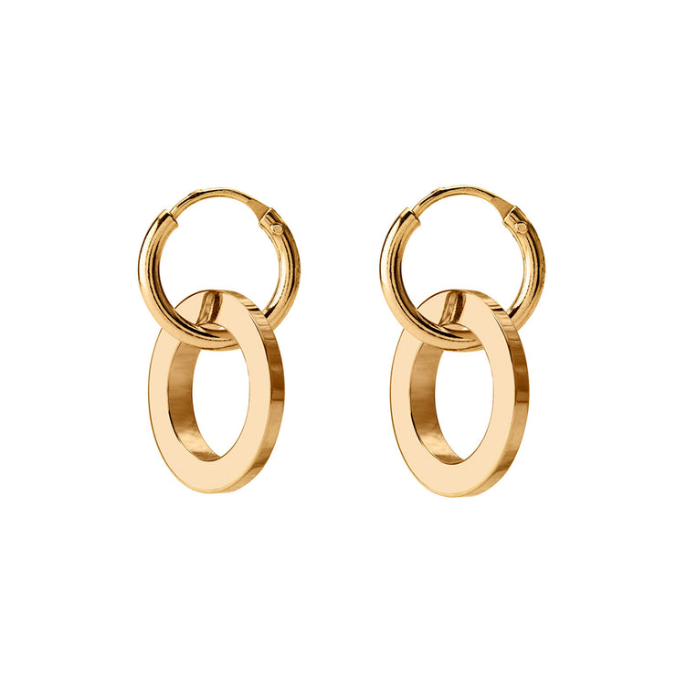 eden gold hoop earrings | reversible