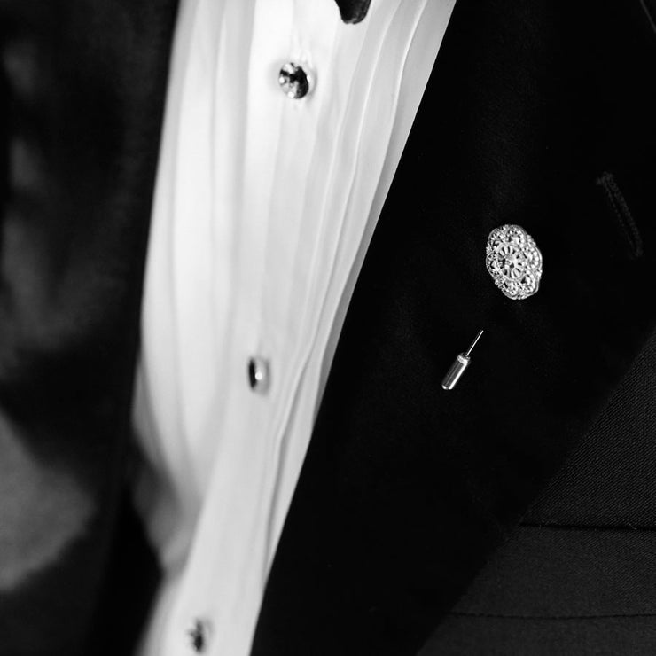 elliot silver shirt studs | how to wear | black tie