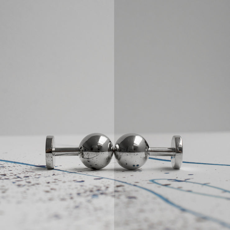 grafton polished silver cufflinks