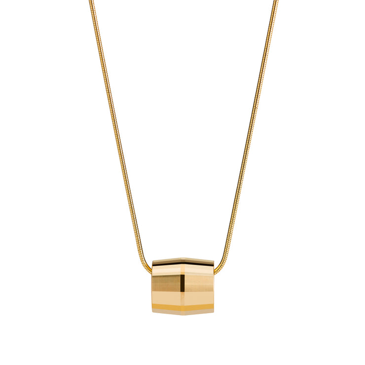 hope gold necklace | close