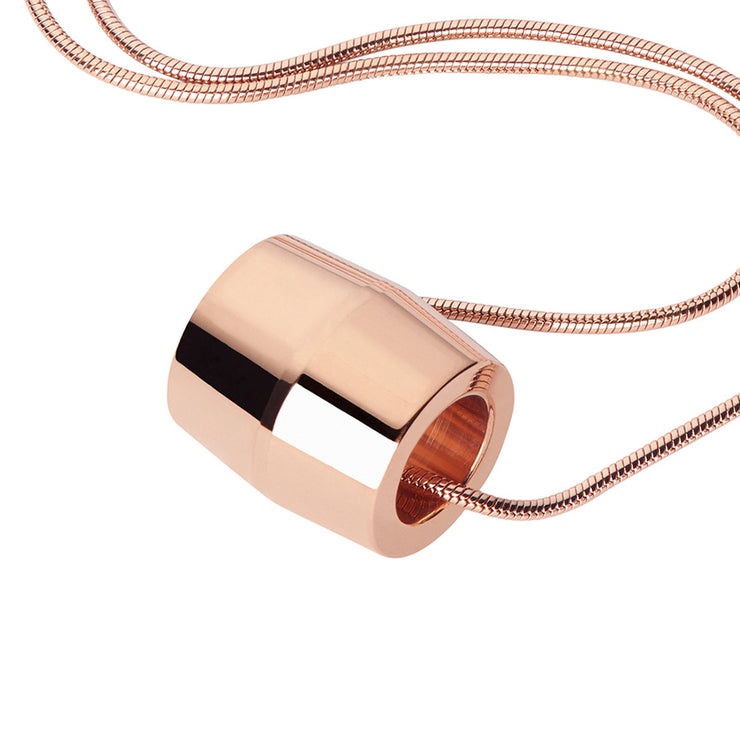 hope rose gold necklace | close