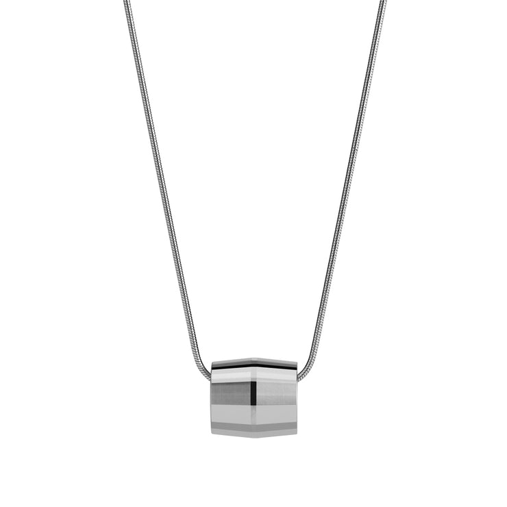 hope silver necklace | close