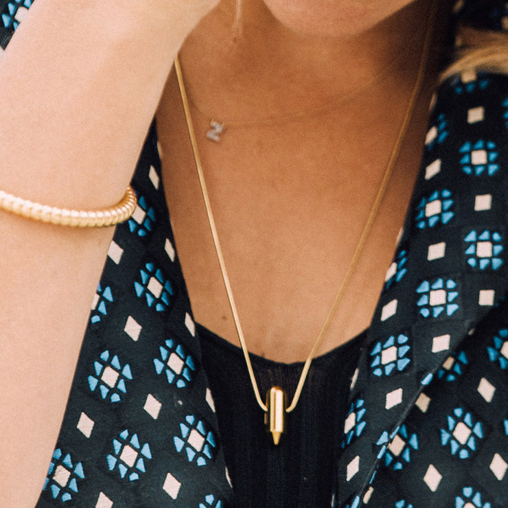 juno gold necklace | close up