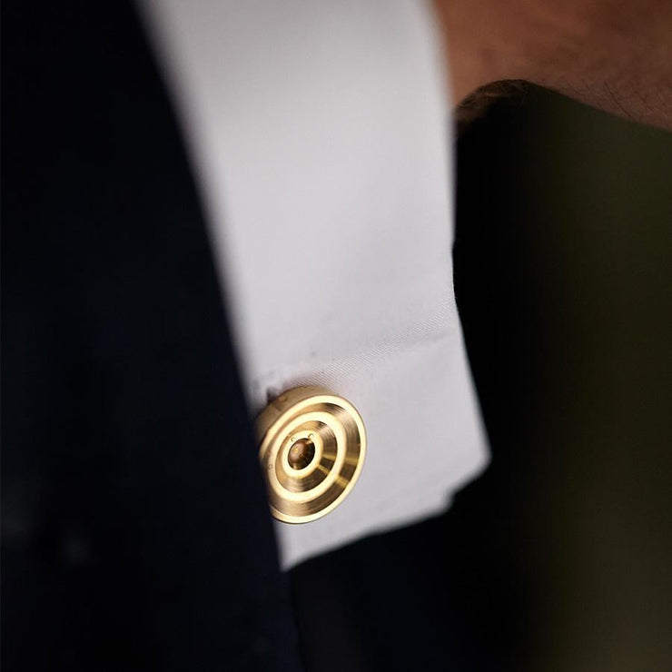 lucas brass cufflinks | detail
