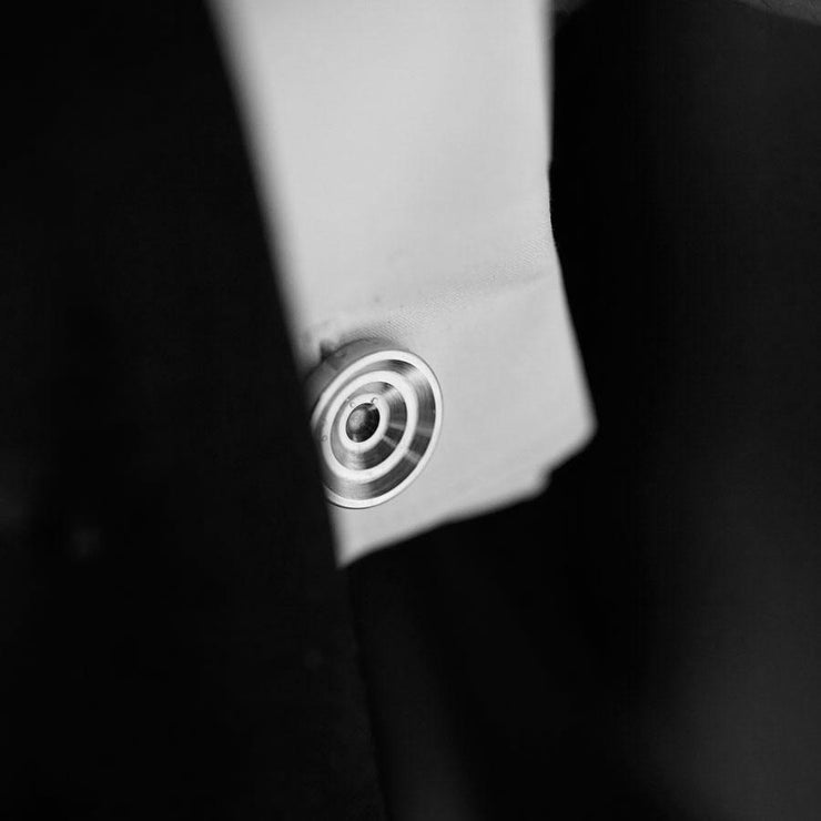 lucas steel cufflinks | detail