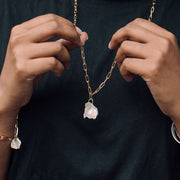 maya long necklace | how to wear holding