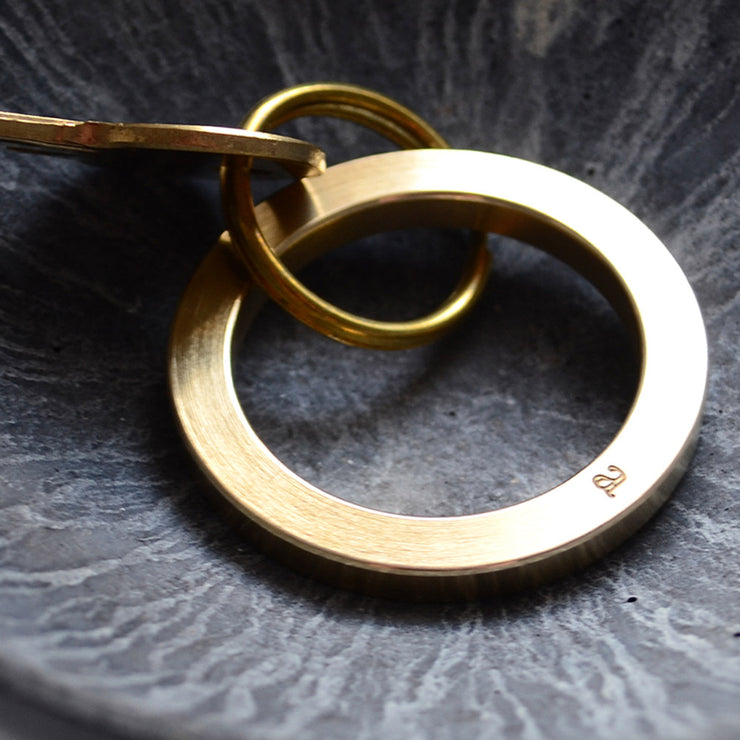 morris brass key ring | close up