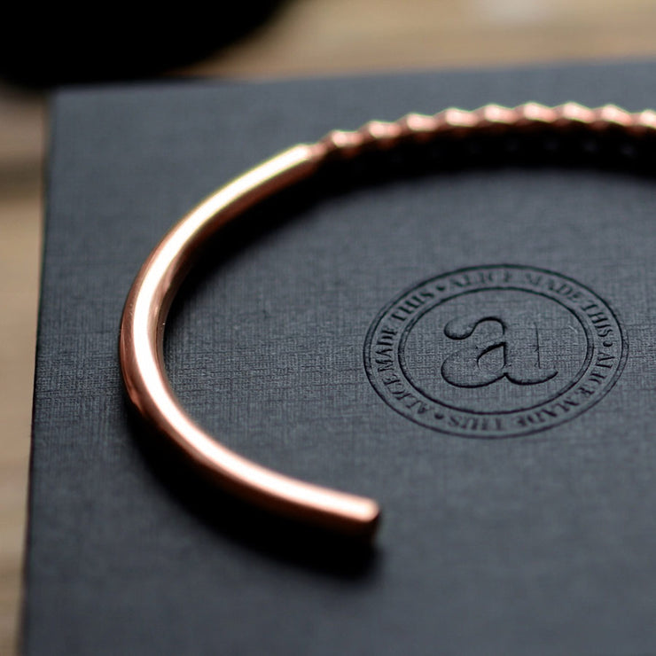 oscar copper bracelet | close up