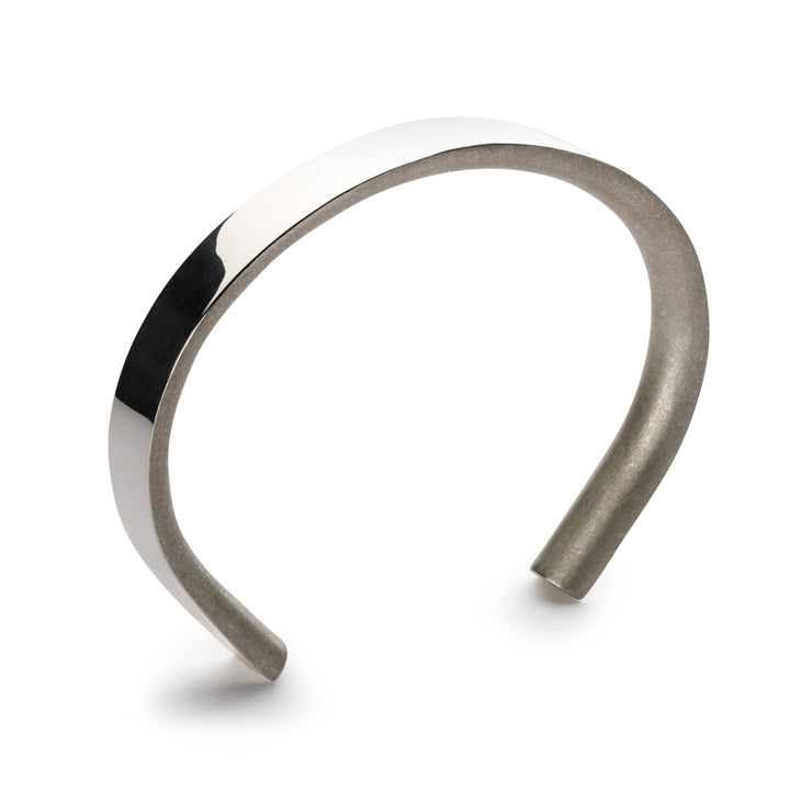 p8 bancroft polished silver bracelet | high polish