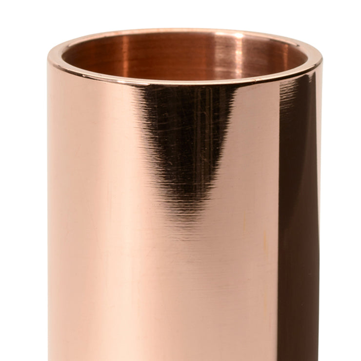 polished copper pot | close up