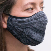 steel coloured reusable facemask | close up | hygienic face mask