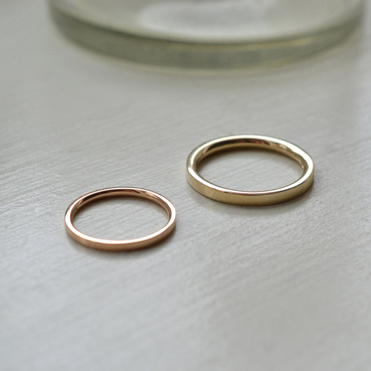 2mm | 18 carat gold wedding rings | designer wedding bands