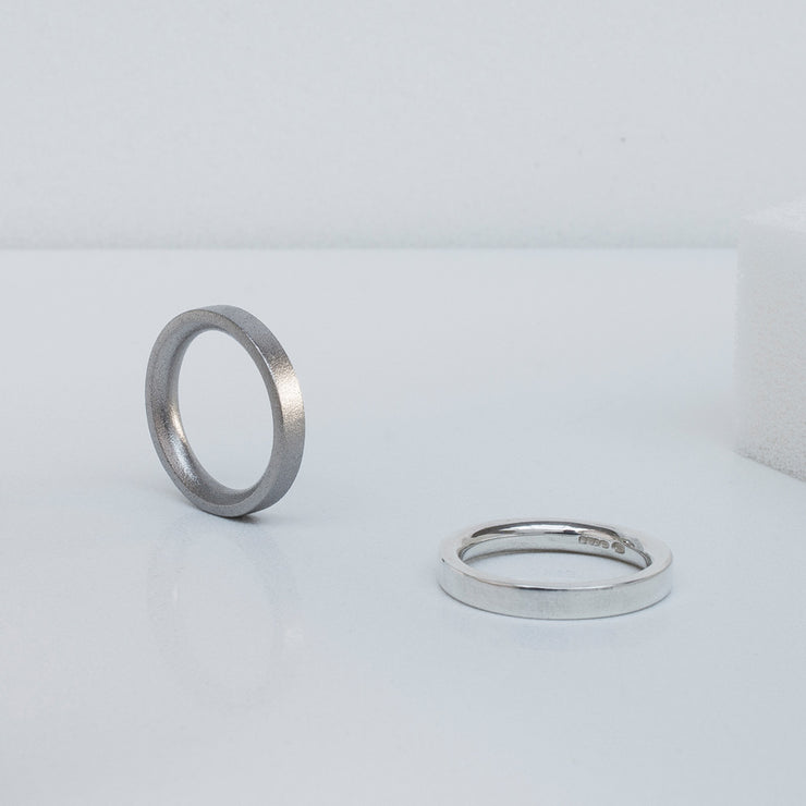 Alice Made This | 4mm blasted wedding ring