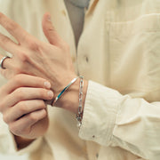bardo charm bracelet | stacked silver bracelets | how to wear