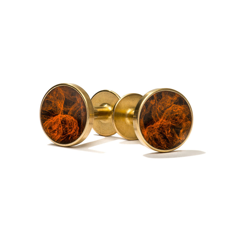 bayley esquire orange patina cufflinks