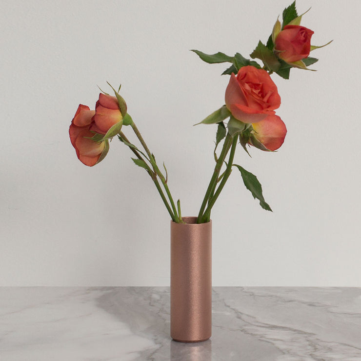 blasted copper pot | flowers